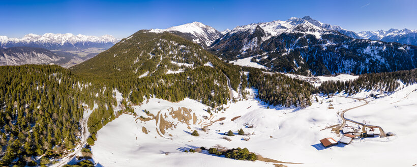 Austria, Tyrol, Stubai Alps, Aerial view of Ner Valley - STSF01908