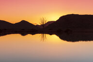 South Africa, Cape Town, landscape, lake at sunset - ZEF16135