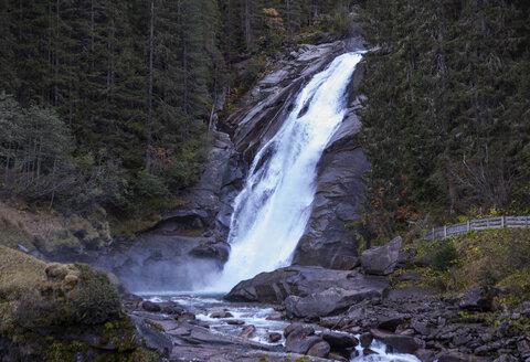 Austria, High Tauern National Park, Krimml waterfalls, Mid Falls - WWF05025