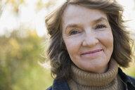 Close up portrait smiling woman - HEROF35070