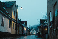 Denmark, Dragor, residential houses in the old town at twilight - AFVF02719