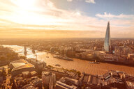 Sunny view of Thames river, Tower bridge, London tower and the Shard, City of London, UK - CUF50028