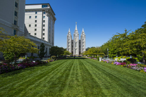 USA, Utah, Salt Lake City, Mormon Salt Lake City Temple - RUNF01827