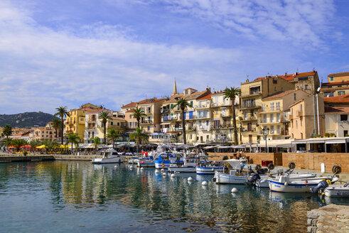 France, Corsica, Calvi, boats in the harbour - LBF02507