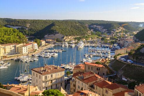 France, Corsica, Bonifacio, harbour - LBF02519