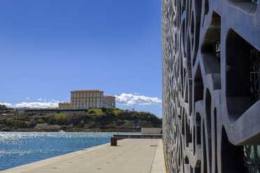 France, Marseille, Museum of European and Mediterranean Civilisations, MuCEM and Pharo palace - LBF02546