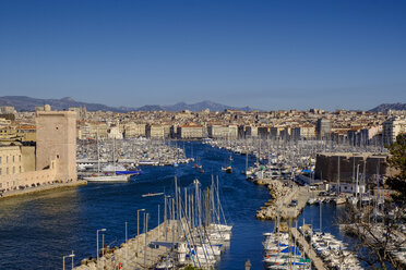 France, Marseille, old town, view over the old harbour - LBF02552