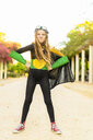 Portrait of girl posing in super heroine costume - ERRF01019