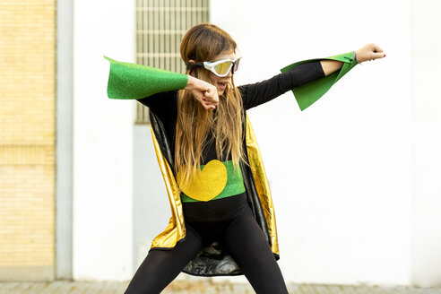 Girl posing in super heroine costume - ERRF01034