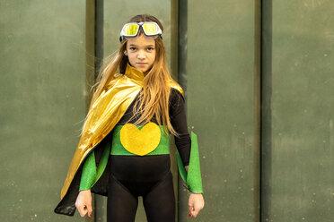 Girl posing in super heroine costume - ERRF01037