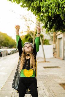 Girl posing in super heroine costume - ERRF01049