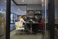 Business people meeting in bossí_ŒÇs office - HEROF35895