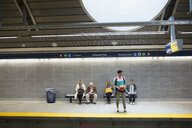 People waiting on subway station platform - HEROF35979