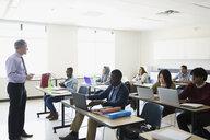 Professor leading ESL lesson in classroom - HEROF36156