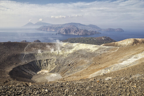 Aeolian Islands, Vulcano, Panoramic view from volcano - MAMF00517