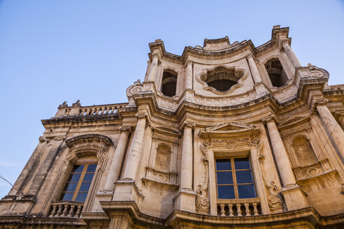 St. Charles Church, Chiesa di San Carlo al Corso, Noto, UNESCO-Welterbe, Provinz Syrakus, Sizilien, Italien - MAMF00529