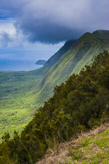 Kalaupapa overlook on the island of Molokai , Hawaii - RUNF01869