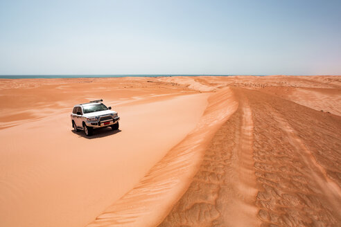 Sultanate Of Oman, Wahiba Sands, Dune bashing in an SUV - WVF01320
