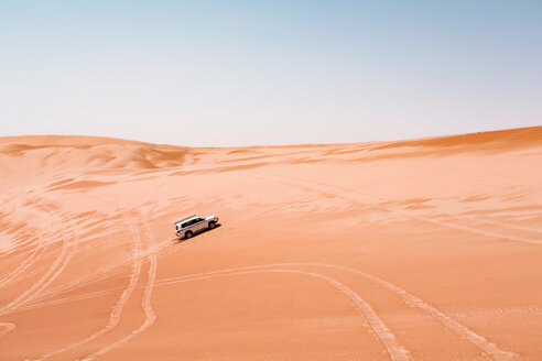 Sultanate Of Oman, Wahiba Sands, Dune bashing in an SUV - WVF01323