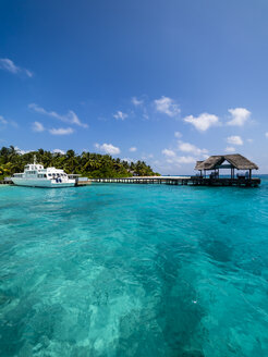 Maledives, Ross Atoll, jetty - AMF06899