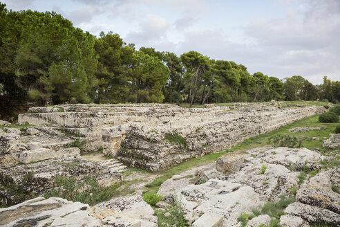 Opferaltar Hierons II, Parco Archeologico della Neapoli, Syrakus, UNESCO-Weltkulturerbe, Provinz Syrakus, Sizilien, Italien - MAMF00563