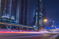 United Arab Emirates, Dubai, Sheikh Zayed Road at night - HSIF00485