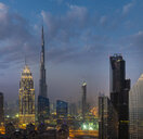 United Arab Emirates, Dubai, cityscape with Burj Khalifa - HSIF00488