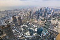 United Arab Emirates, Dubai, cityscape with Sheikh Zayed Road - HSIF00494