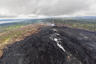 USA, Hawaii, Big Island, aerial view of the impacts of the volcanic eruption in 2018 - FOF10693
