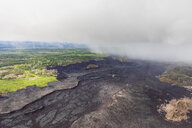 USA, Hawaii, Big Island, aerial view of the impacts of the volcanic eruption in 2018 - FOF10702