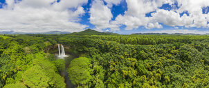 USA, Hawaii, Kauai, Wailua State Park, Wailua Falls, aerial view - FOF10729