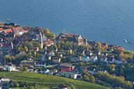 Germany, Baden-Wuerrttemberg, Lake Constance, Meersburg, Uberling Lake, townscape, aerial view - SH02151