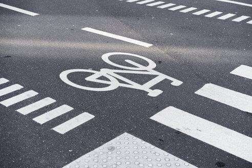 Denmark, Copenhagen, bicycle roadsign - AFVF02739