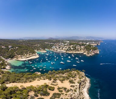 Spain, Mallorca, Palma de Mallorca, Aerial view of Region Calvia and El Toro, Portals Vells - AMF06924
