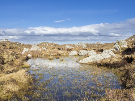 Großbritannien, Schottland, Northwest Highlands, Tümpel und Felsbrocken - HUSF00036