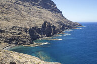 Spain, Canary Islands, La Gomera, Alojera, coast with breakwater - MAMF00632