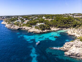 Spain, Mallorca, Aerial view of bay Cala Falco and Cala Bella Donna - AMF06946