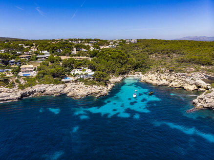 Spain, Mallorca, Aerial view of bay - AMF06949