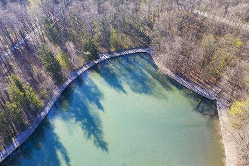 Germany, Augsburg, Stempflesee at Siebentischwald, aerial view - SIEF08614