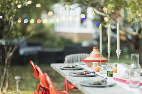 Table set for dinner garden party - CAIF23237