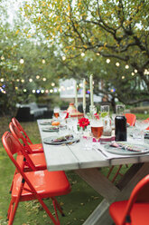 Table set for dinner garden party - CAIF23243