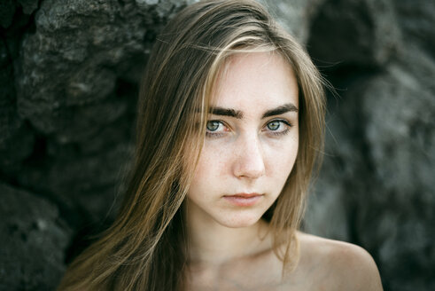 Close up of serious Caucasian woman - BLEF00397