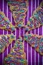 Festive Christmas tree cookies with multicolor icing - BLEF00781