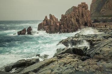 Italy, Sardinia, Tortoli, Arbatax, rocks in the surf - FCF01740