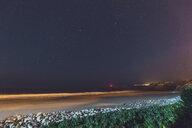 Portugal, Algarve, Sagres, beach and sea at night - MMAF00912
