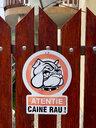 Sign of dangerous dog in Romania - OCMF00440
