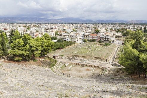Greece, Argos, antique theater and townscape - MAMF00665