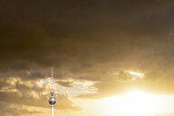 Germany, Berlin, view to television tower at sunset - PUF01422