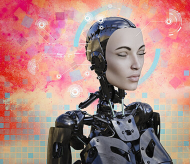 Woman cyborg with artificial intelligence - BLEF02214