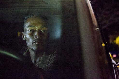 Black man driving car - BLEF02280